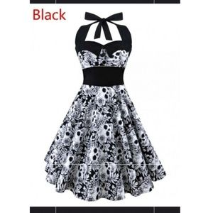 Rockabilly Swing dress - skull print
